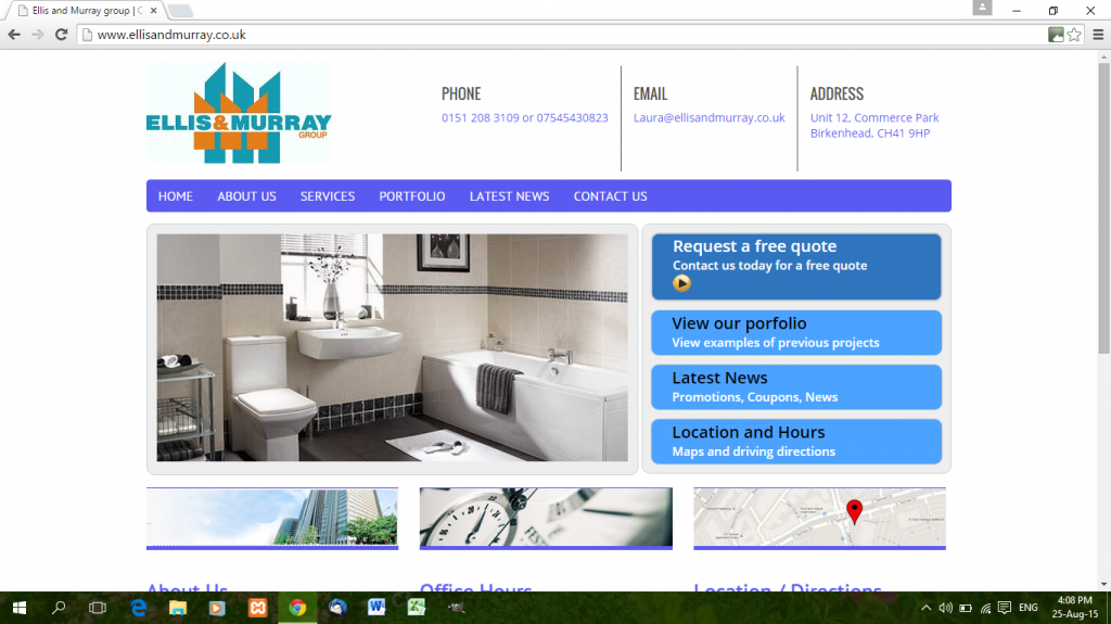 web design for a plumbing business