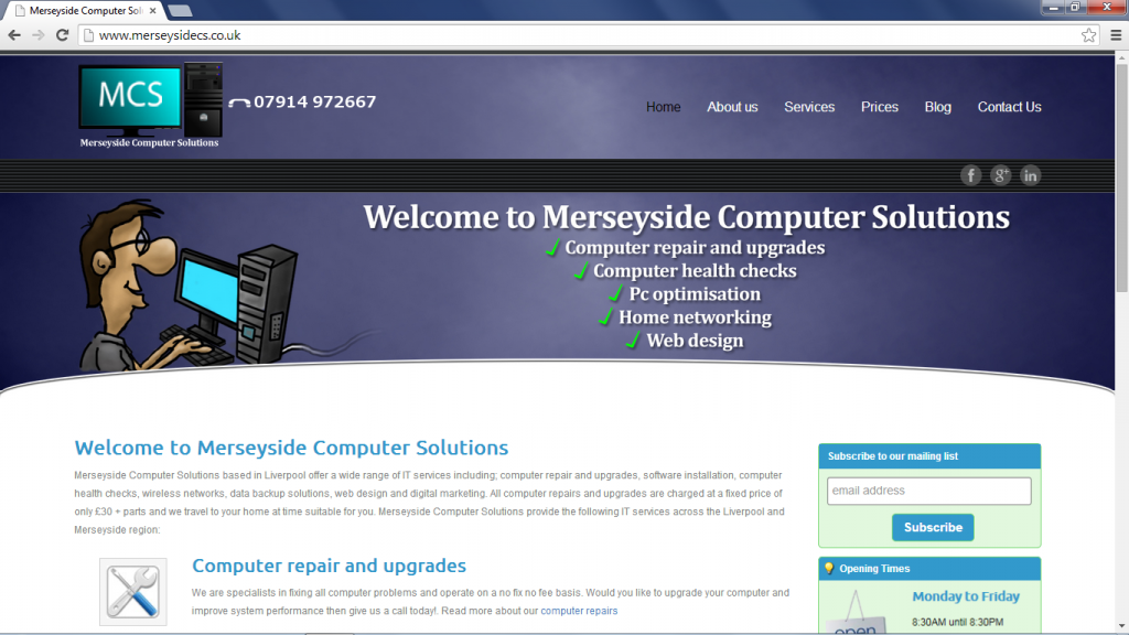 merseyside computer solutions website