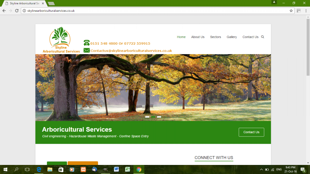 skyline arboricultural services web design