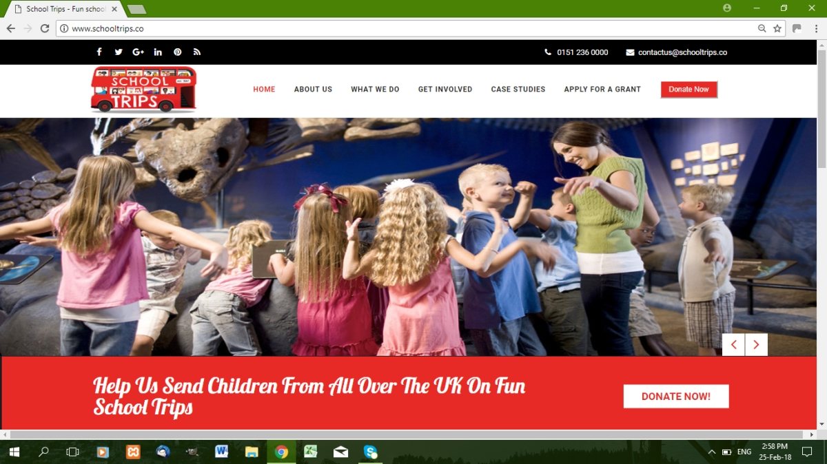 School trips website Liverpool